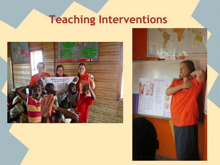 Teaching Interventions