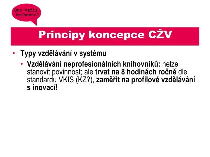 Principy koncepce CŽV