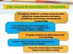 the goals of reciprocal teaching