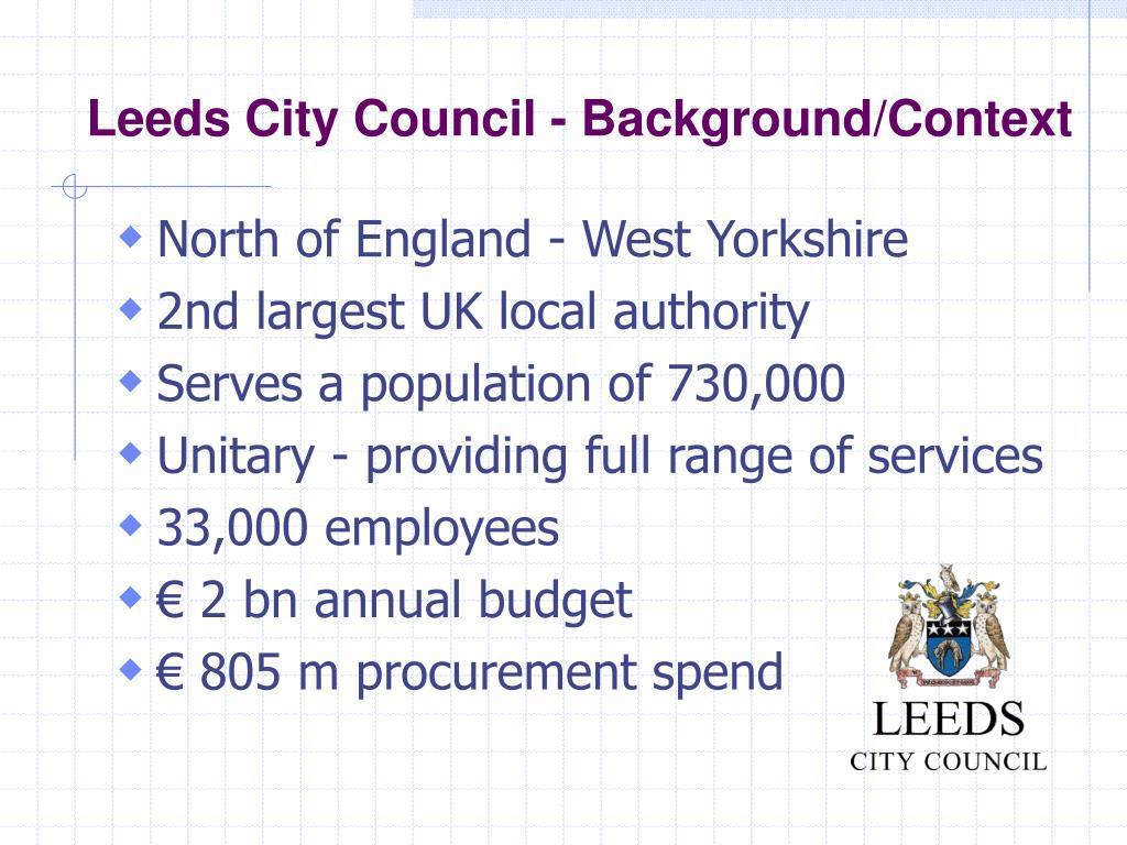 PPT - Leeds City Council PowerPoint Presentation - ID:4423035
