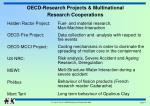oecd research projects multinational research cooperations