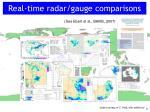 real time radar gauge comparisons
