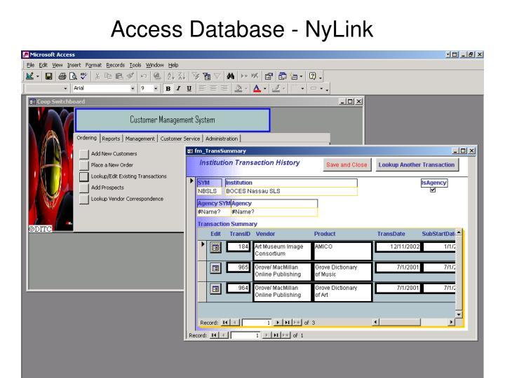 Access Database - NyLink