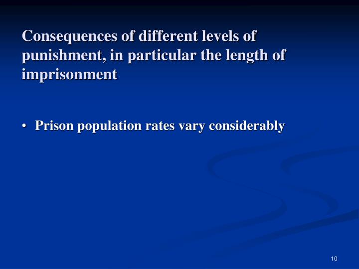 the negative consequences of imprisonment have Researchers are increasingly finding that both the collateral consequences of imprisonment incarceration on communities of color the negative consequences.