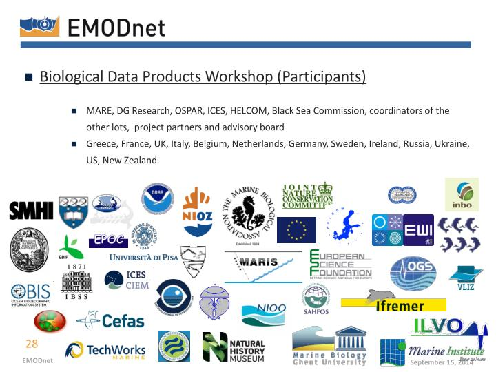 Biological Data Products Workshop (P