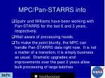 mpc pan starrs info
