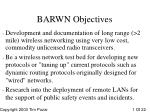 barwn objectives