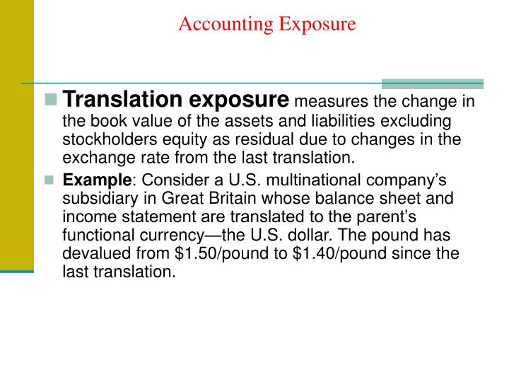 Accounting exposure