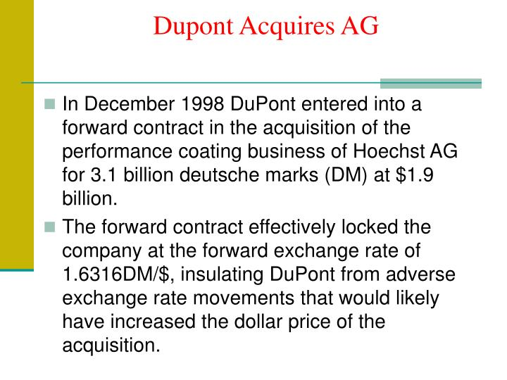 Dupont Acquires AG