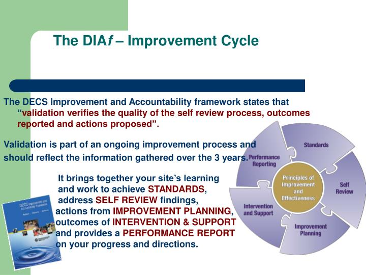 The dia f improvement cycle