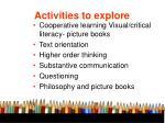 activities to explore