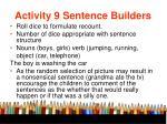 activity 9 sentence builders