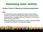assessing news activity