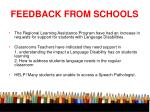 feedback from schools