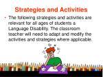 strategies and activities