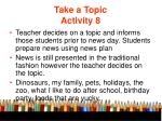 take a topic activity 8