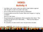 video activity 4