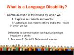 what is a language disability