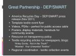 great partnership dep smart