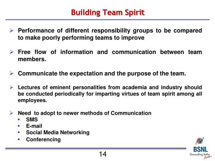 Building Team Spirit