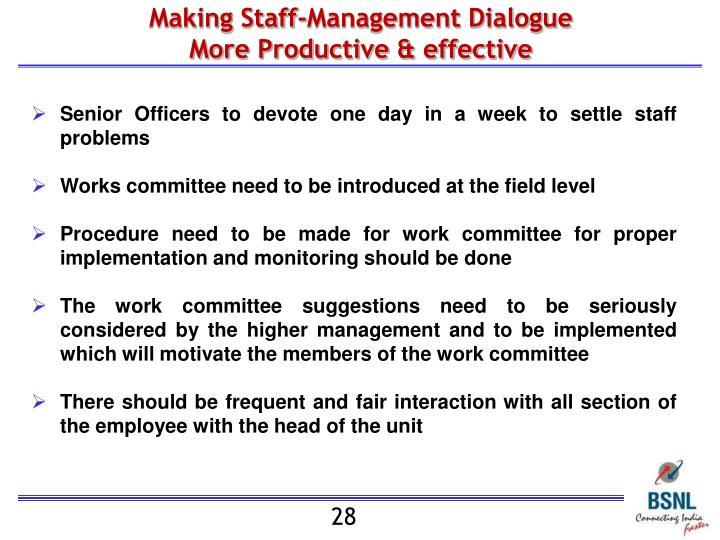 Making Staff-Management Dialogue