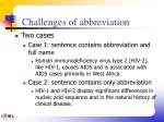 challenges of abbreviation