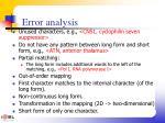 error analysis2