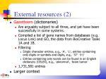external resources 2