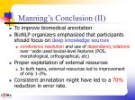manning s conclusion ii