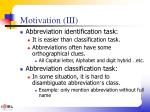 motivation iii