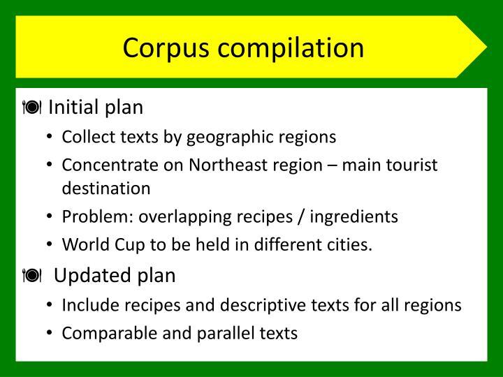 Corpus compilation