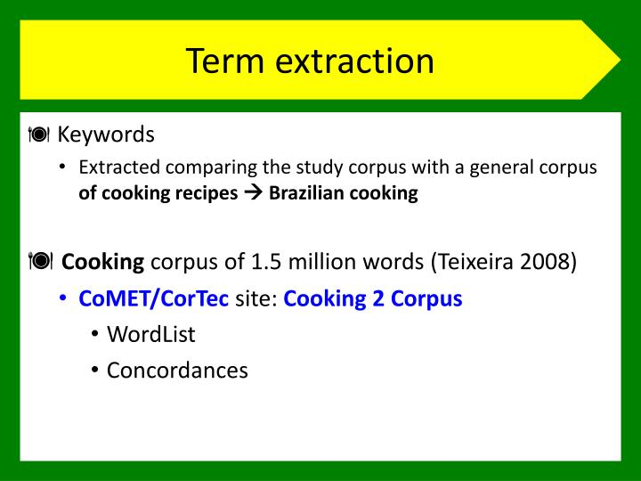 Term extraction