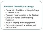 national disability strategy