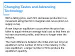 changing tastes and advancing technology9