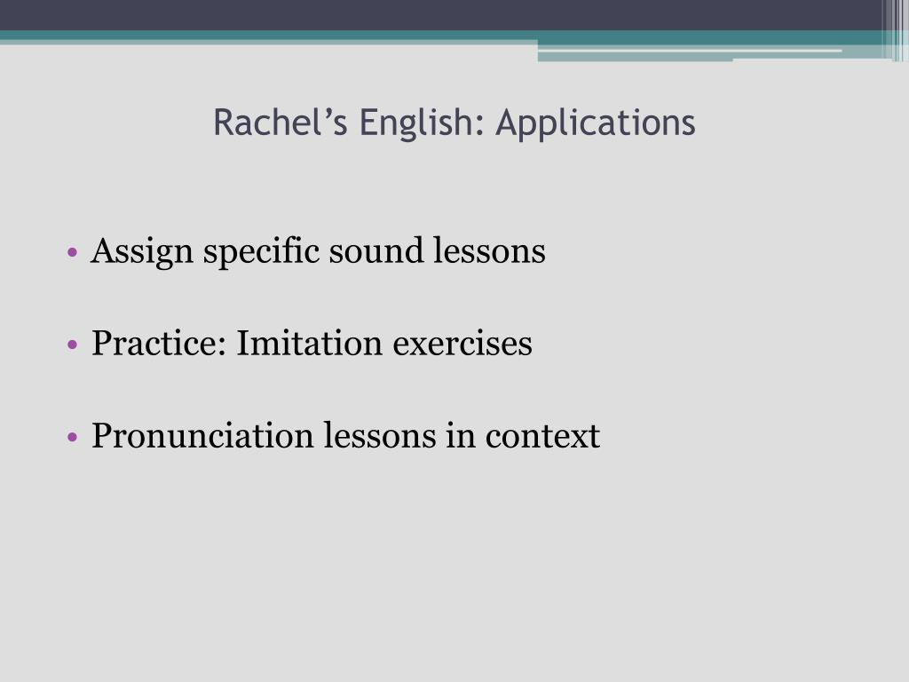 PPT - Current Trends in English Pronunciation Teaching Websites