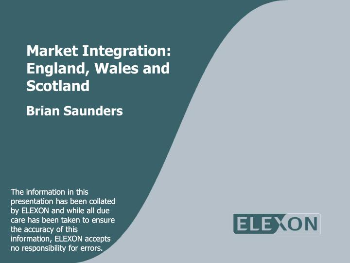 Market integration england wales and scotland