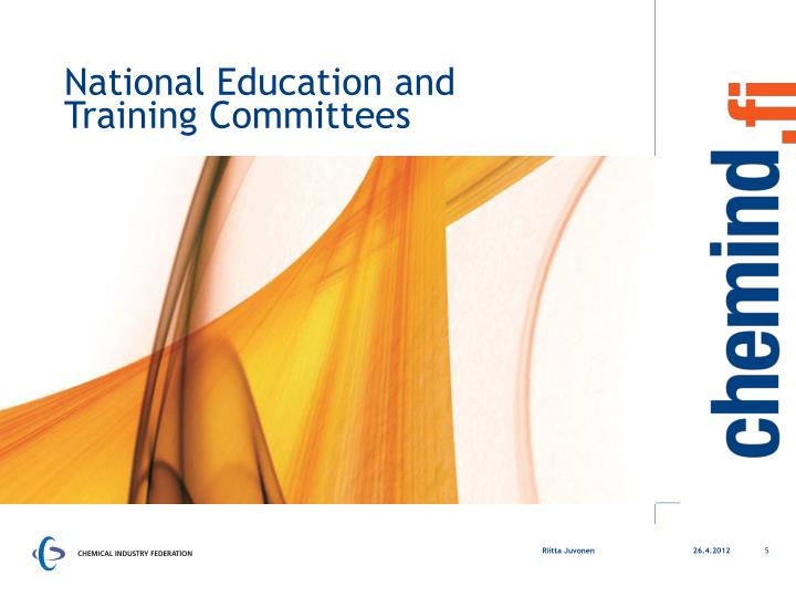 National Education and Training Committees