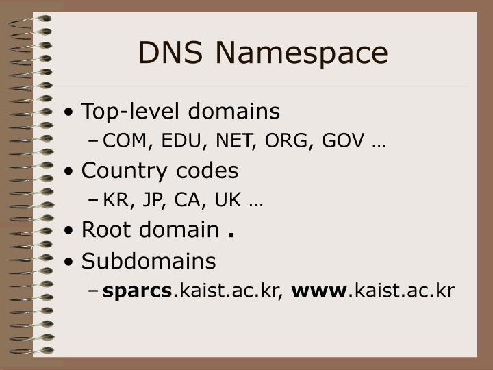 DNS Namespace