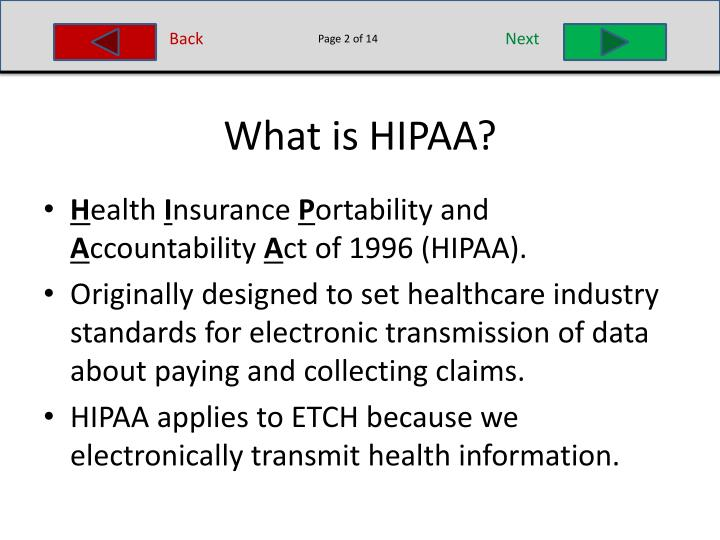 hipaa health insurance portability accountability act essay Your guide to hipaa including information about hipaa privacy, hipaa security, and hippa violations the hipaa privacy rule, released in 2003, established a national set of standards that protect patient health information, and directly applies to covered entities, or healthcare providers.