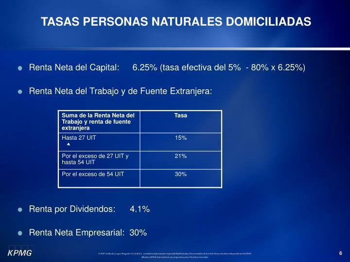 TASAS PERSONAS NATURALES DOMICILIADAS