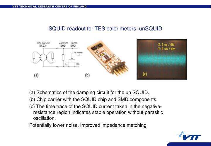 SQUID readout for TES calorimeters: unSQUID