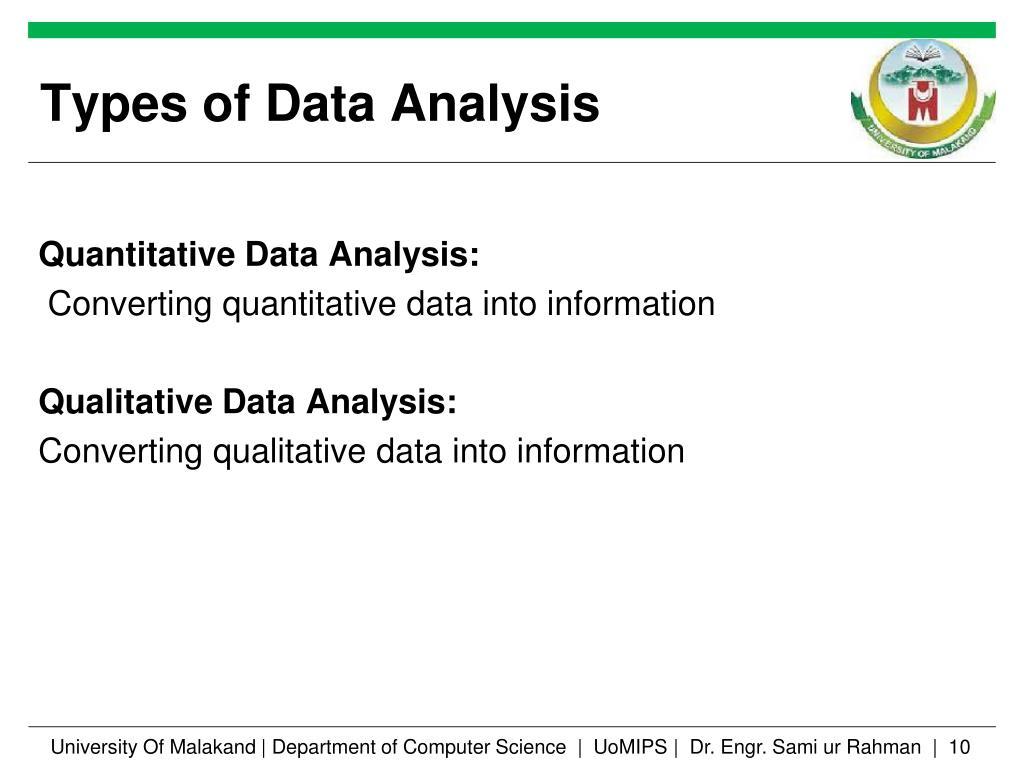 PPT - Quantitative and Qualitative Data Analysis Lecture 1