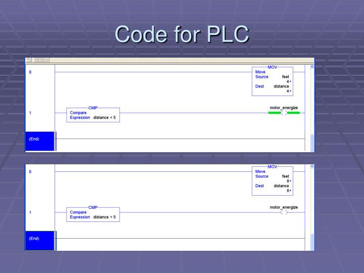 Code for PLC