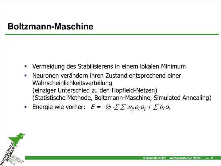 Boltzmann-Maschine