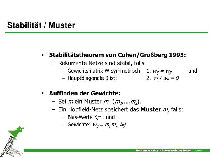 Stabilität / Muster