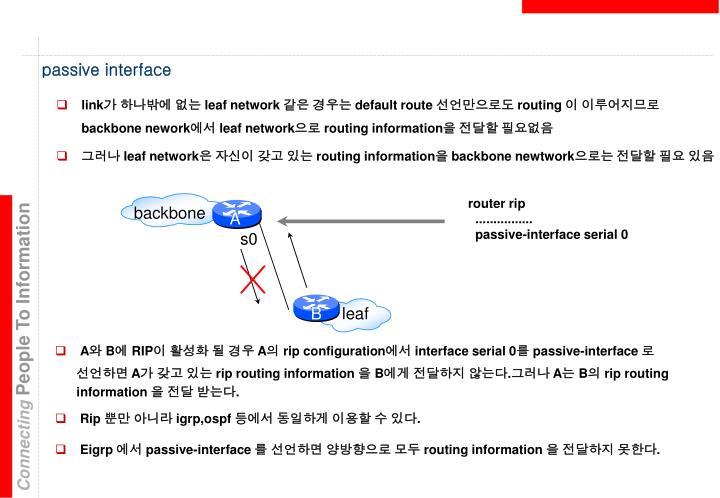 passive interface