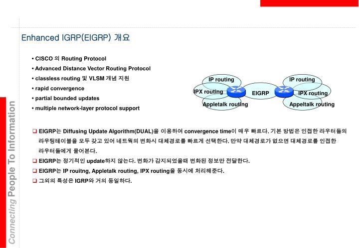 Enhanced IGRP(EIGRP)