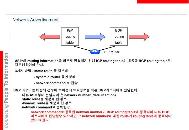 Network Advertisement