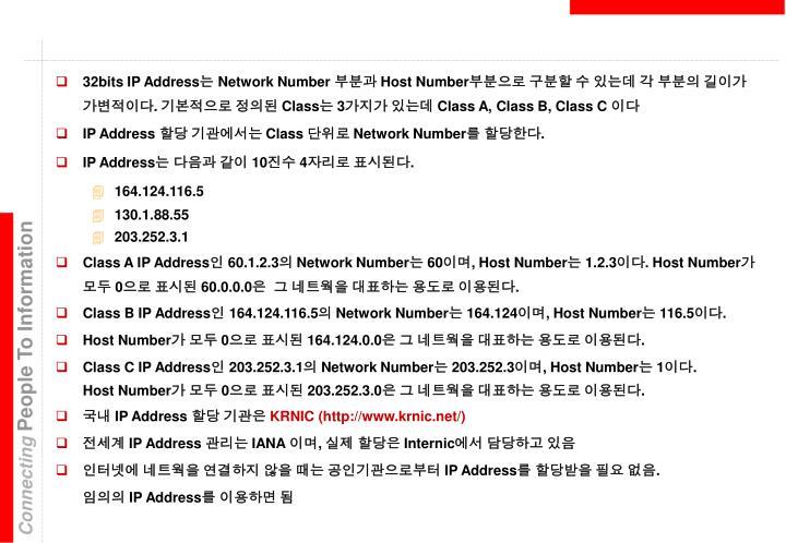 32bits IP Address