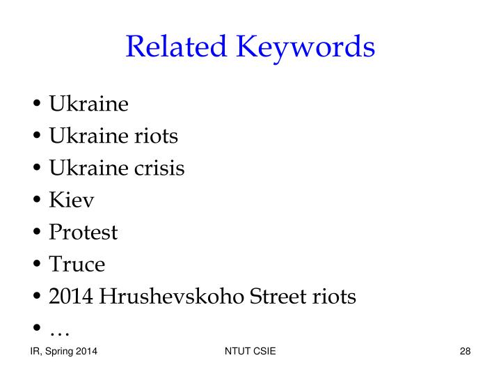 Related Keywords